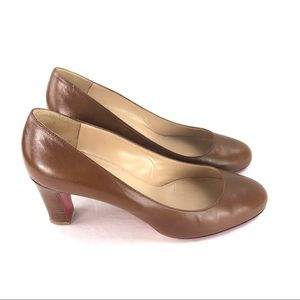 Christian Louboutin Brown Round Toe Pumps Size 38